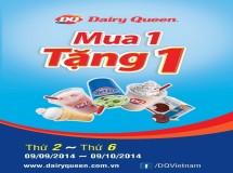 Dairy Queen khuyến mãi mua 1 tặng 1