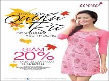 Thời trang WOW giảm giá 20%
