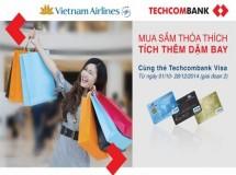 Vietnamairlines giảm giá đến 20% dành cho chủ thẻ Techcombank