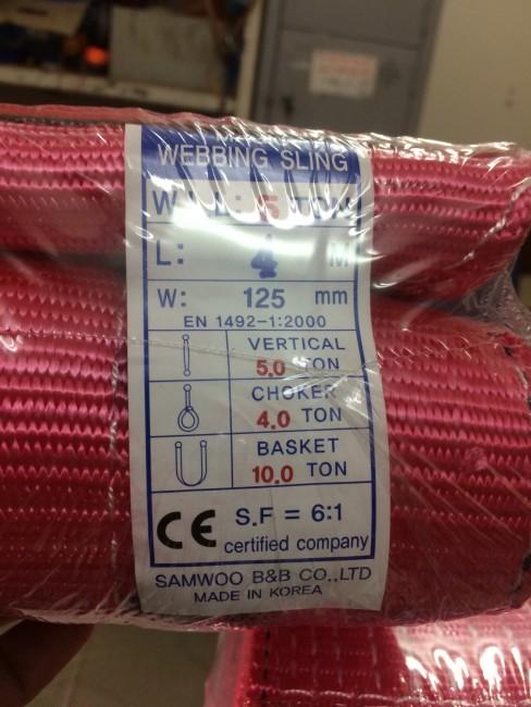 0941889251- Dây cẩu hàng 5 tấn 10m Samwoo Hàn Quốc giá rẻ nhất.