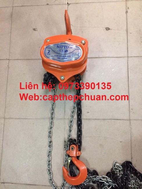0973390135- Đại lý pa lăng xích kéo tay, pa lăng xích 2 tấn nitto nhật bản giá rẻ