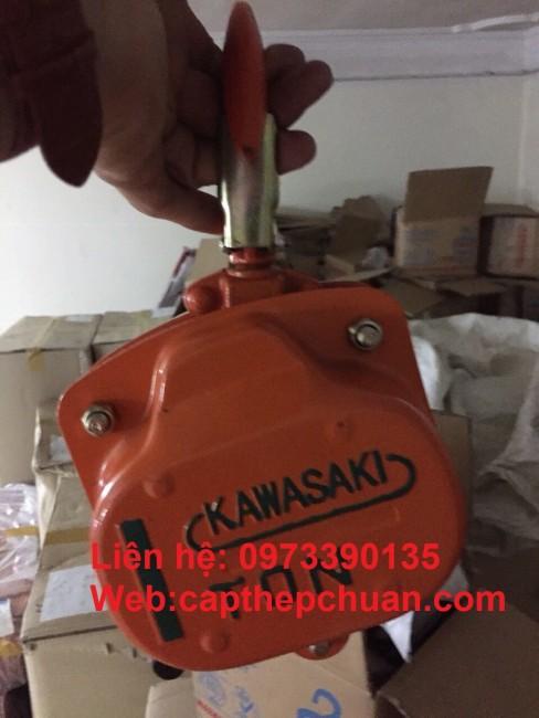 0973390135- Pa lăng xích kéo tay 1 tấn Kawasaki giá rẻ nhất hà nội