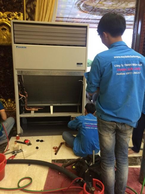 4 model máy lạnh tủ đứng Daikin 10 HP chuyên thi công lắp đặt nhà xưởng