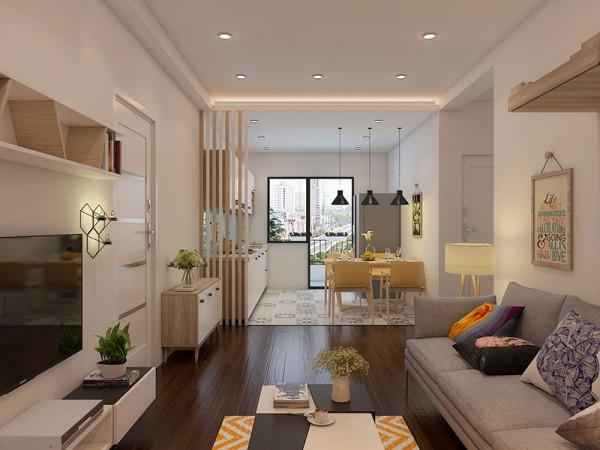 5 ý tưởng thiết kế phòng khách liền bếp nhà ống độc đáo