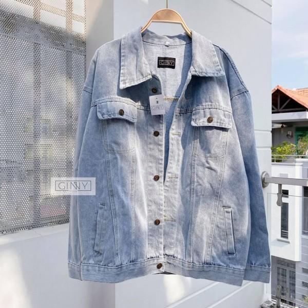 Áo khoác Jean Basic oval