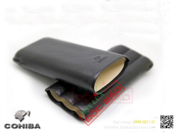 Bán bao da xì gà cao cấp chính hãng Cohiba P313 (3 điếu)