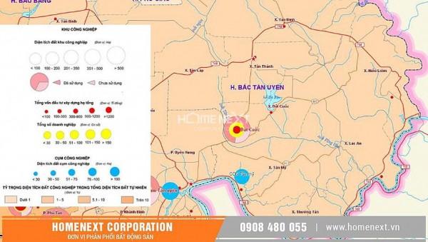 Bản đồ huyện Bắc Tân Uyên – cập nhật mới nhất