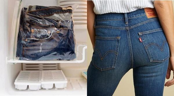 Bạn sẽ ngạc nhiên khi bỏ quần jean mới mua vào tủ lạnh