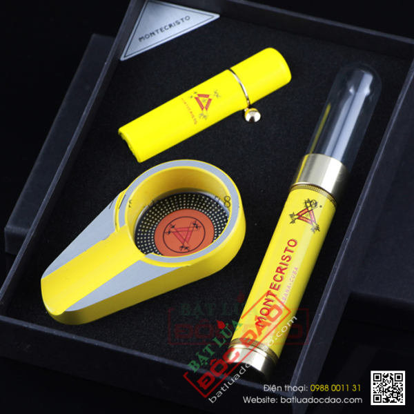 Bán sét phụ kiện xì gà Cohiba T24: gạt tàn, ống đựng, bật lửa T24