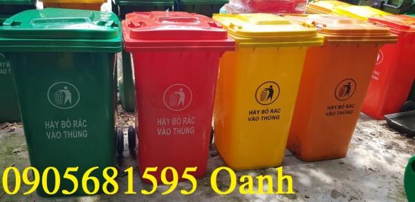BÁN SỈ Thùng rác nhựa lớn 240 lít tại Phú Bài - TP. Huế Call 0905681595