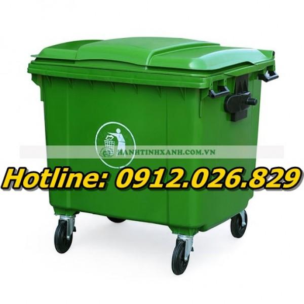 Bán thùng rác công nghiệp 120L , 120 lít giá cực rẻ