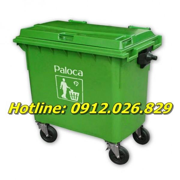 Bán thùng rác công nghiệp 660 lít giá rẻ