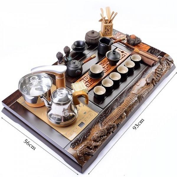 Bàn trà điện thông minh đa năng cao cấp bằng gỗ B064