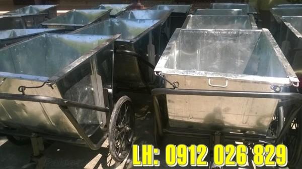 Bán xe tôn gom rác cải tiến, cơ động cao, di chuyển linh hoạt