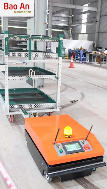 Bảo An cung cấp giải pháp xe tự hành vận chuyển AGV