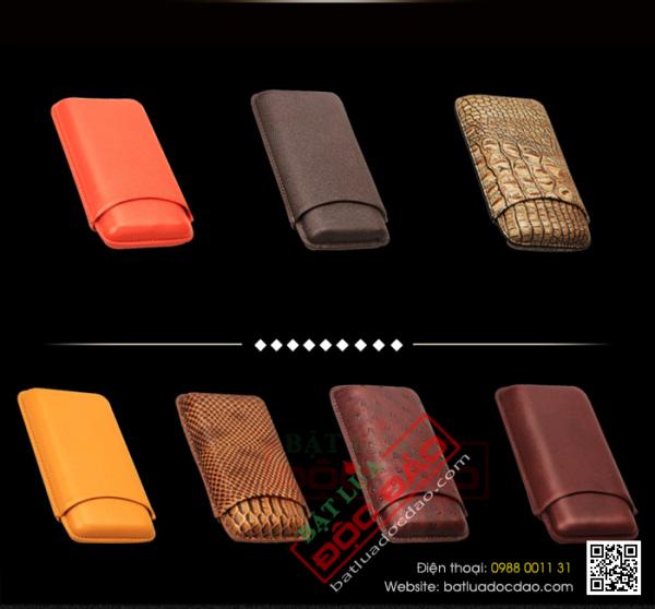 Bao da đựng xì gà Cohiba 3 điếu P101 cao cấp (quà biếu sếp)