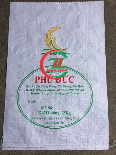 Bao đựng gạo 5kg, 10kg, 25kg, 50kg, bao dung gao, bao bi gao, bao bì đụng gạo-0908858386