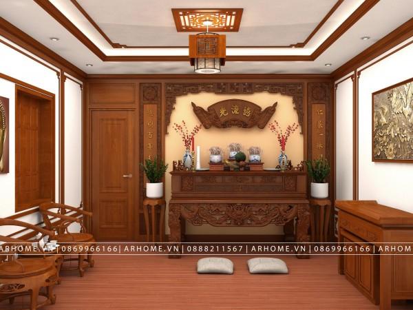 Báo giá thiết kế thi công nội thất phòng thờ