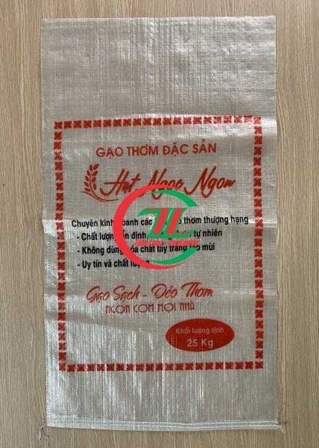 Bao pp dệt 25kg đựng gạo, bao bì pp dệt - 0908.858.386
