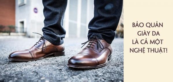 Bảo quản đôi giày da nam vô cùng đơn giản