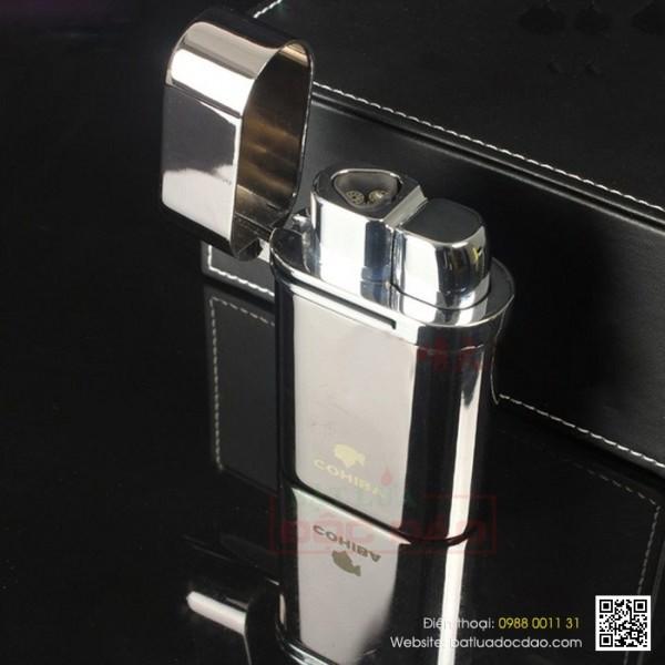 Bật lửa khò 3 tia Cohiba chính hãng H033: quà tặng cao cấp