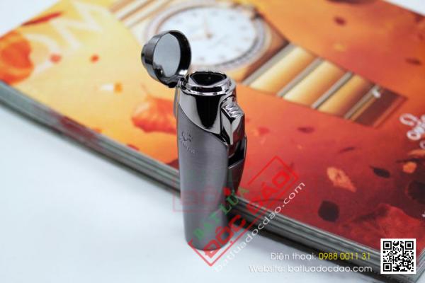 Bật lửa khò xì gà 3 tia cao cấp h017, phụ kiện cigar