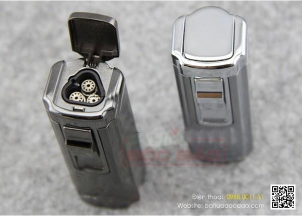Bật lửa xì gà 3 tia Cohiba chính hãng H004: quà tặng cao cấp