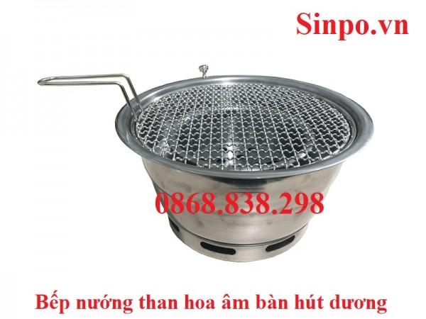 Bếp nướng than hoa không khói âm bàn hút dương giá rẻ