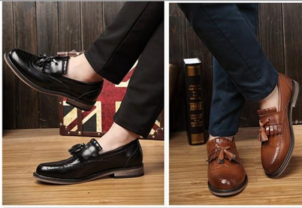 Bí kíp chọn giày da nam tăng chiều cao cực chuẩn