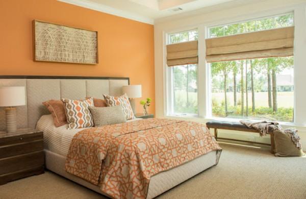 Bí quyết áp dụng màu cam đào cho các không gian trong nhà