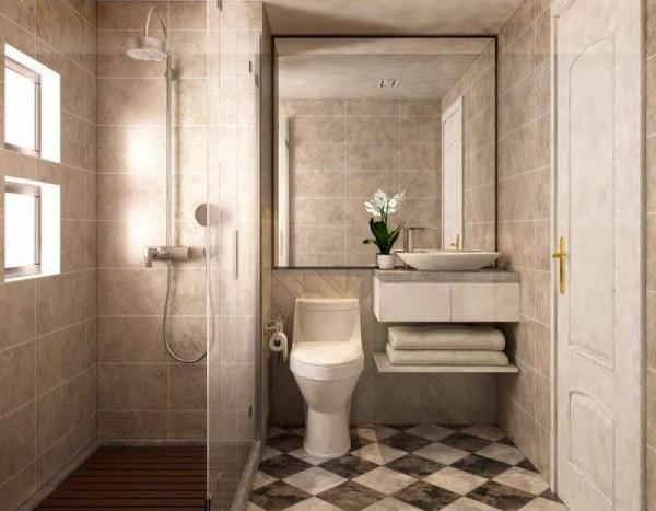 Biện pháp nới rộng không gian phòng tắm nhỏ