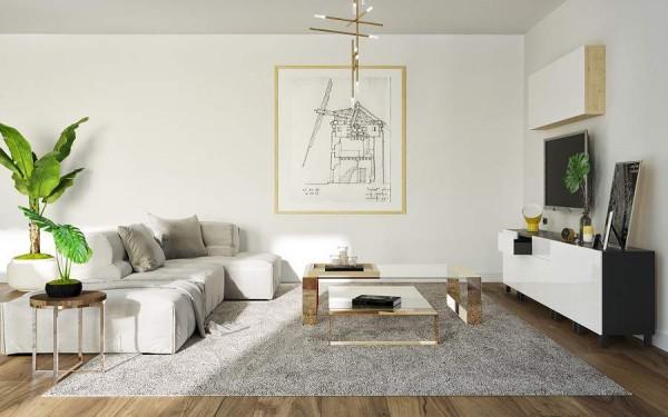 Biến phòng khách cũ thành không gian sống ngọt ngào, lãng mạn