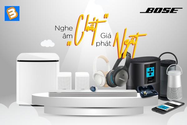 Bình Minh giảm giá cực mạnh các sản phẩm âm thanh Bose trong tháng 5 này