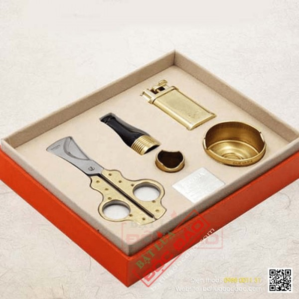 Bộ phụ kiện hút xì gà Guevara cao cấp TG65, quà tặng sếp