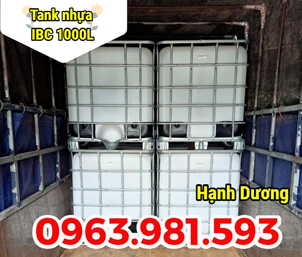 Bồn nhựa nuôi cá, tank IBC 1000L