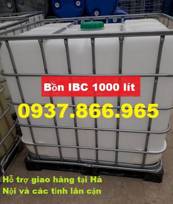 Bồn nhựa trắng 1000 Lit , TANK nhựa 1000 Lit , TANK IBC 1000 Lit