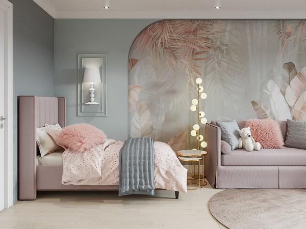 Bức tường phòng khách sinh động, quyến rũ hơn khi được tô vẽ
