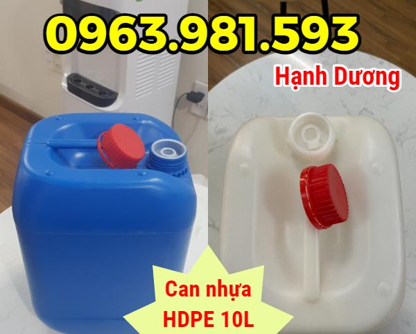 Can 10L, can nhựa HDPE, can chuyên dụng