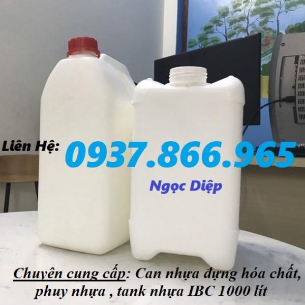 Can nhựa 5 lít, can đựng hóa chất, can nhựa HDPE 5 lít