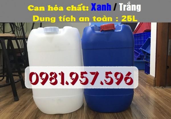 Can nhựa HDPE nguyên sinh 25L đựng hóa chất tại Hà Nội