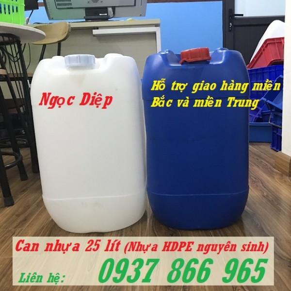 Can nhựa xuất khẩu, can nhựa dày HDPE 25 lít, can nhựa dày đựng hóa chất 25 lít