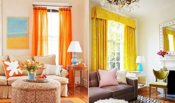 Căn phòng bừng sáng với những tấm rèm sặc sỡ