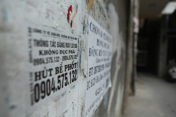Cảnh giác dịch vụ hút bể phốt tại Ba Đình Hà Nội