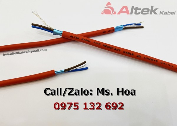 Cáp chống cháy 2x1.0 thương hiệu Altek Kabel giá gốc