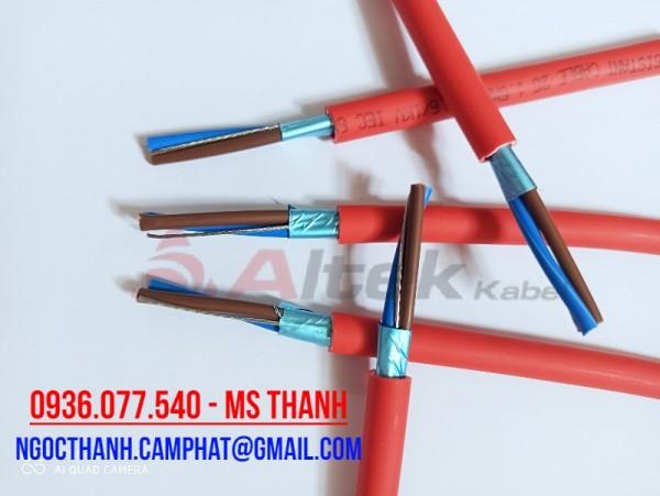 Cáp chống cháy chống nhiễu 2x2.5 SQM - Fire resistant cable