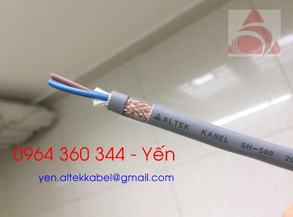 Cáp chống nhiễu altek kabel 2x0.5mm, 2x0.75mm, 2x1.0mm, 2x1.5mm