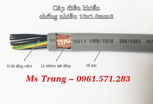 Cáp điều khiển 10 lõi tiết diện 0.5mm2