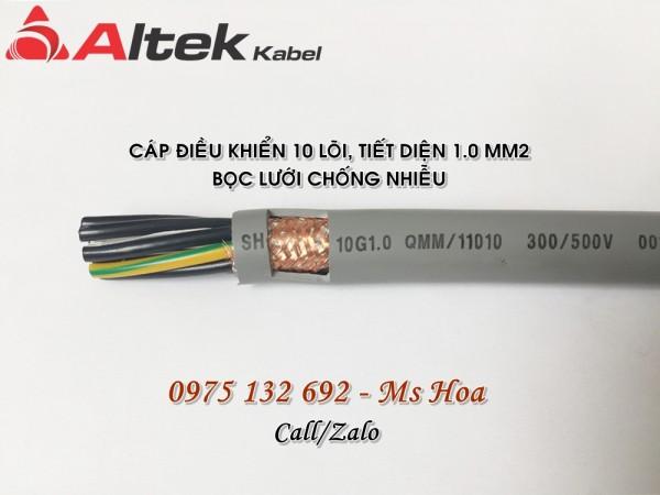 Cáp điều khiển 10x1.0 chống nhiễu, không chống nhiễu Altek Kabel