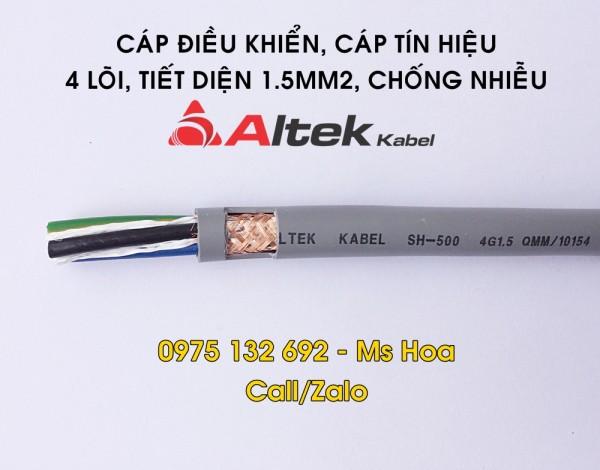 Cáp điều khiển 4x1.5, cáp tín hiệu 4x1.5 Altek Kabel