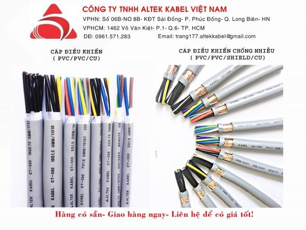 Cáp điều khiển 6x0.5 hiệu Altek Kabel chính hãng giá sỉ